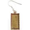 Bezel Handmade Earring Rectangle 21x11x2mm Antique Brass